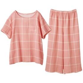 【レディース】 やみつきの軽さ!さわやかサマーガーゼかぶりパジャマ - セシール ■カラー:ピンク系 ■サイズ:LL,5L,L,3L,M