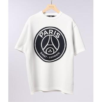 EDIFICE Paris Saint-Germain TOKYO / パリサンジェルマン LOGO CREW KNIT S/S ホワイト M