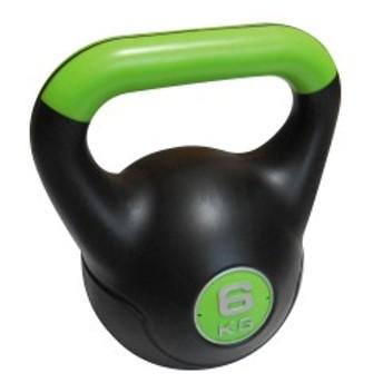 【セール】 フィットネス 健康 ダンベル プラスチックケトルダンベル 6KG 10804 グリーン