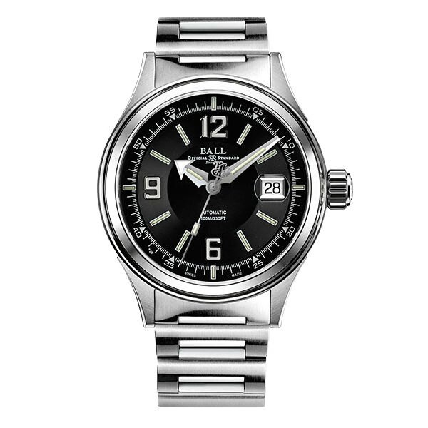 BALL 波爾錶 NM2088C-S2J-BKWH Fireman 紳士大三針腕錶/黑面40mm
