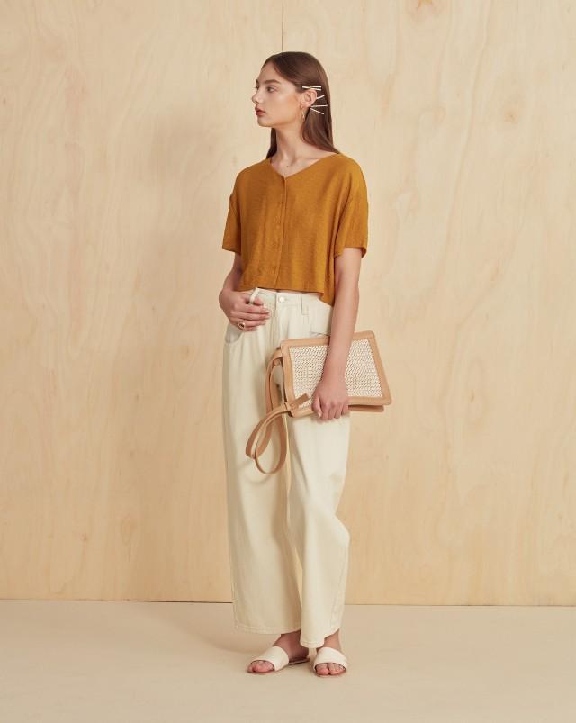 口袋外露設計 / 寬鬆版型 / 復古刷色 / 褲管可反摺或捲起多種風格