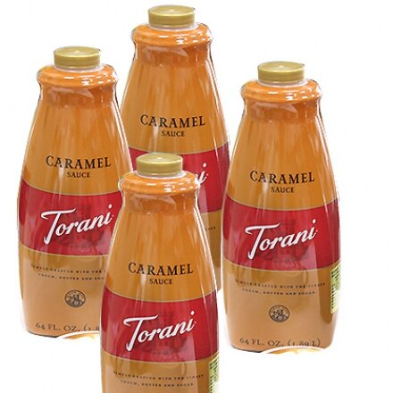 ☆TORANI 特朗尼☆美國進口【天然焦糖醬】64oz(2.5kg) x 4瓶 /箱(不含防腐劑)-【良鎂咖啡吧台原物料商】