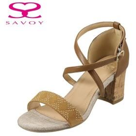 サボイ SAVOY SA93004 レディース | カジュアルサンダル | 大きいサイズ対応 25.0cm 25.5cm | キャメル