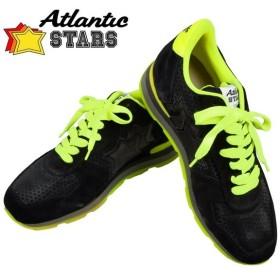 Atlantic STARS アトランティックスターズ ANTARES アンタレス ブラック 黒 ネオンイエロー NNGF 73GF 42(26.5cm〜27cm) メンズ スニーカー ポイント消化