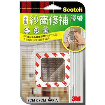 3M   M7  紗窗修補膠帶(7cmx7cm)-4片裝 / 包