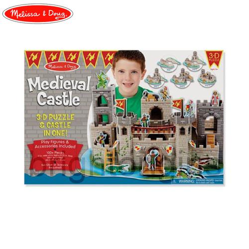 Melissa&Doug 3D娃娃屋拼圖-騎士城堡(9046)