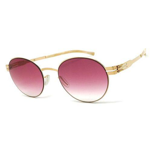 【ic! berlin】德國薄鋼墨鏡太陽眼鏡 claude rose gold 無螺絲專利設計 49mm