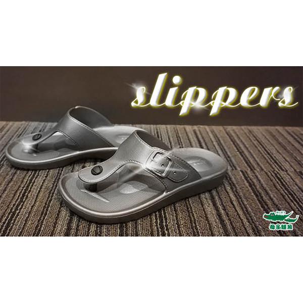 母子鱷魚防水時尚氣墊拖鞋