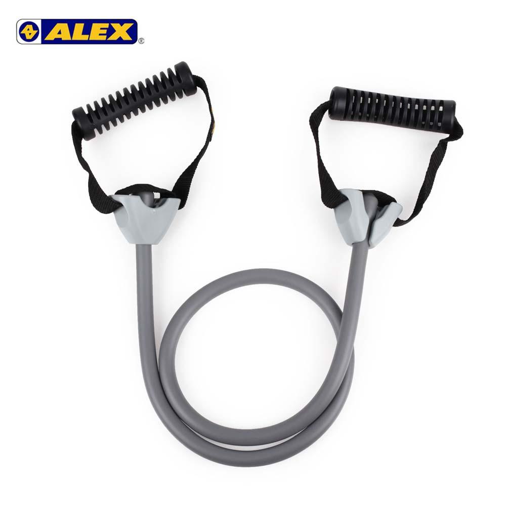ALEX 高強度拉力繩-重型-拉力帶 瑜珈繩 彈力繩 健身阻力帶 阻力繩 訓練帶 灰 F