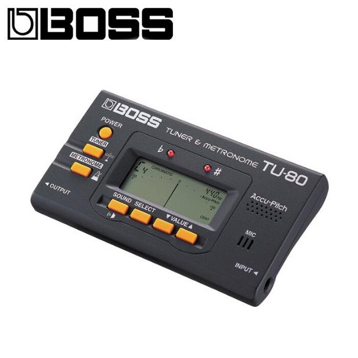 【非凡樂器】BOSS TU-80 Chromatic Tuner 調音器/節拍器 二合一口袋萬用型