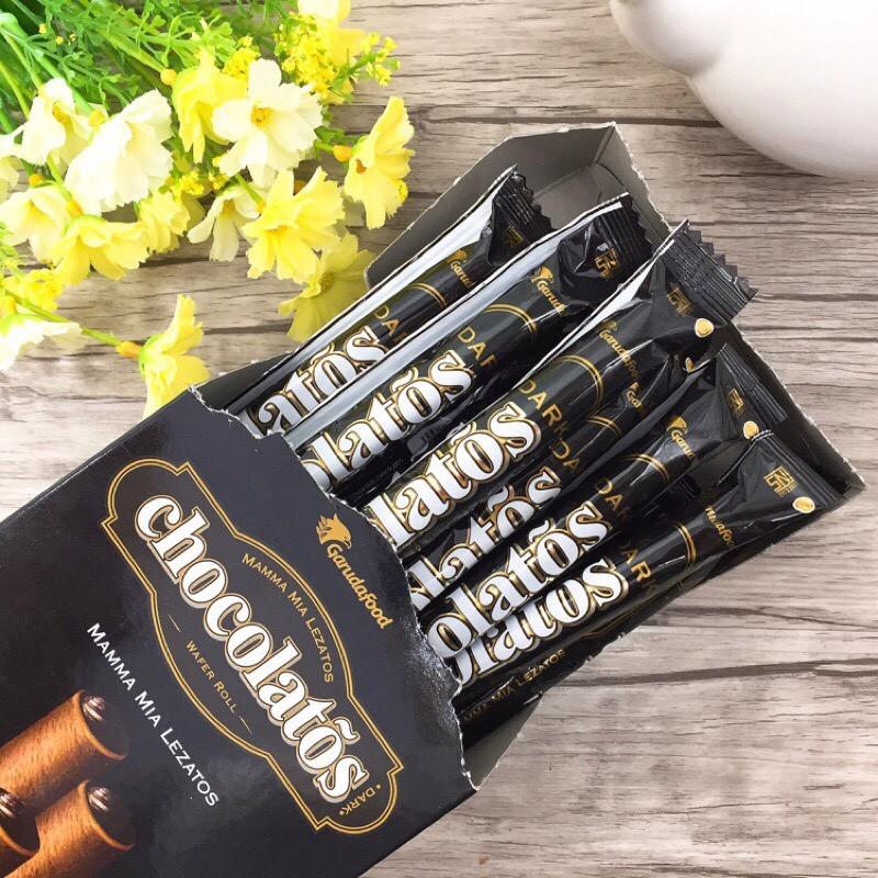 爆漿威化捲黑雪茄巧克力威化捲 一盒20支入
