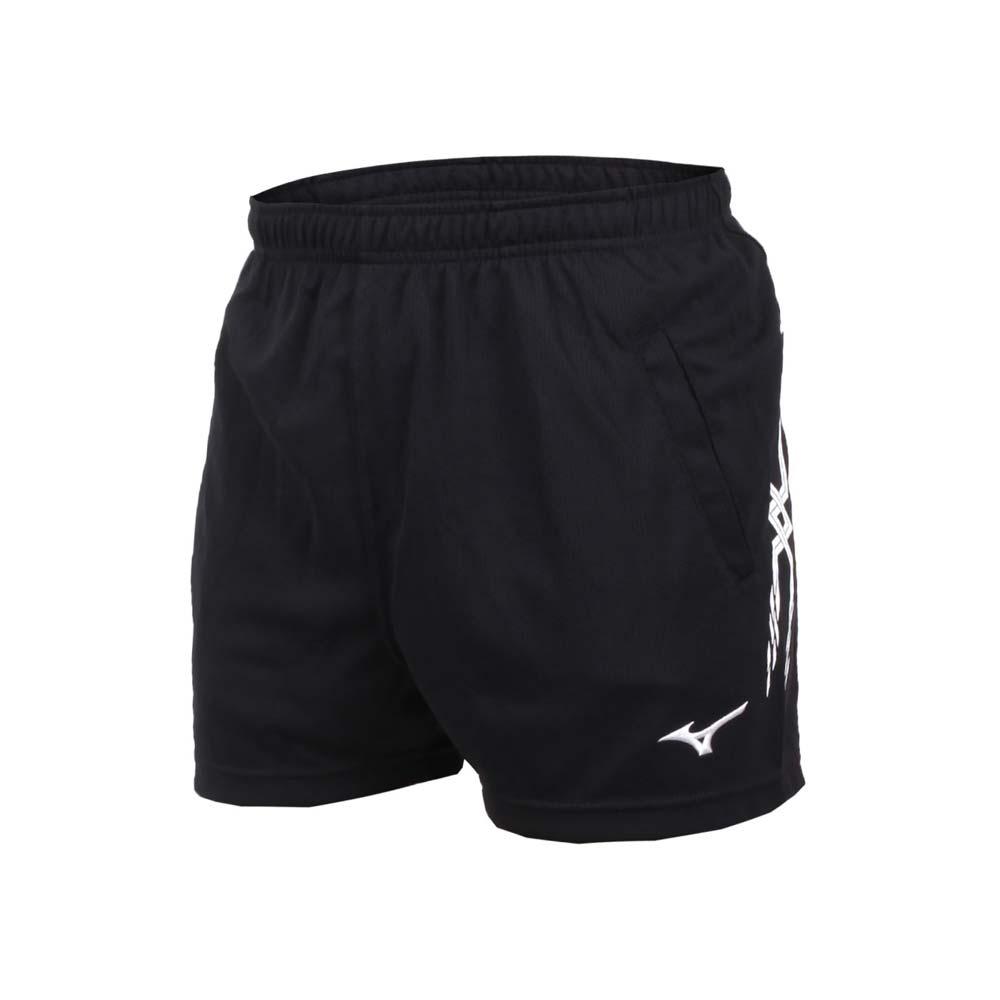 MIZUNO 男排球短褲-三分褲 訓練 運動短褲 美津濃 黑白