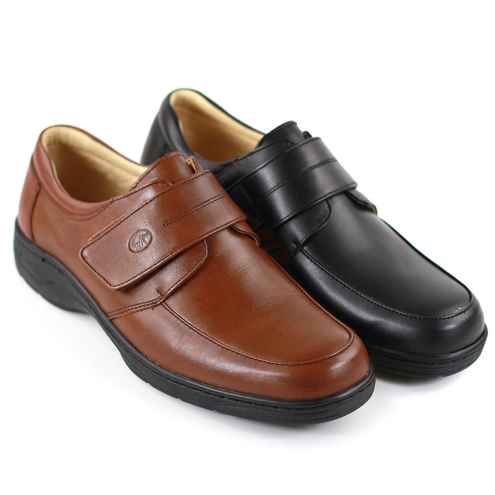 【GREEN PHOENIX】極簡素面縫線全真皮沾黏式皮鞋/休閒鞋(男鞋)T63-13087