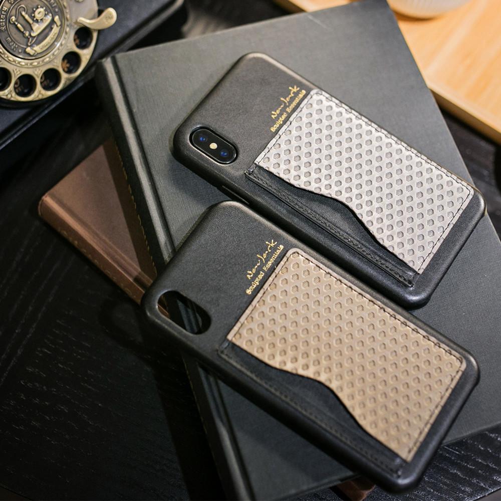 navjackiphone x/xs(5.8吋)雙色卡夾可立式保護背蓋