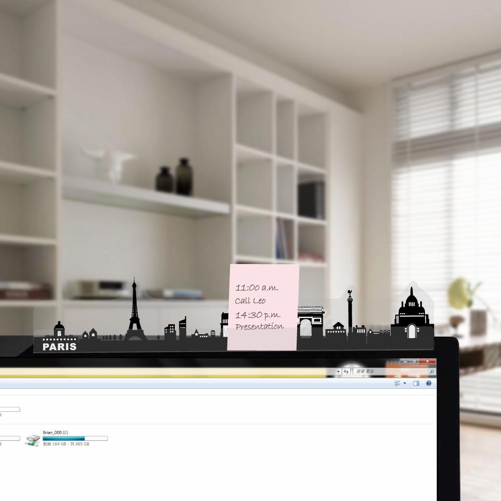 歐士oshi電腦螢幕留言備忘版-城市系列4入,memo夾/禮物/辦公用品/便利貼留言板/百元以下