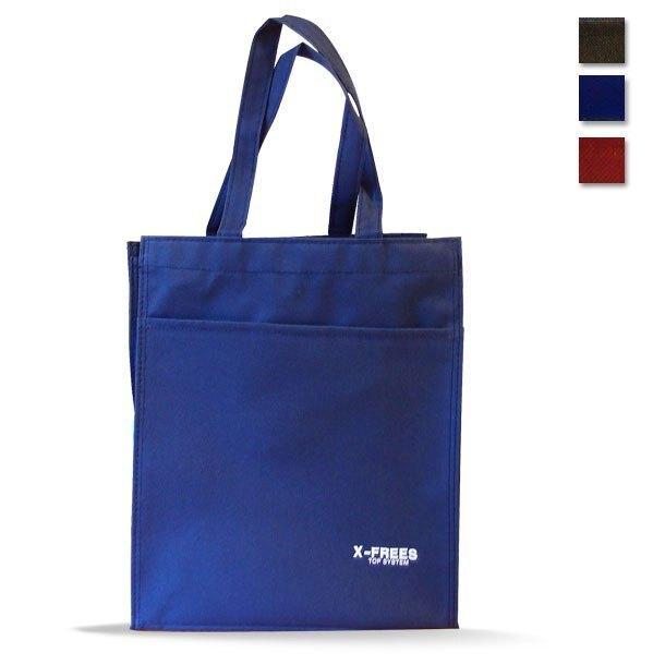 台灣製 X-FREES  中長型 補習袋 可肩背 可放A4 購物袋 文件袋 手提 環保袋 野餐 露營 台灣製 工商團體_TM709 X中袋