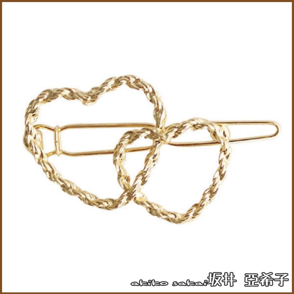 『坂井.亞希子』日系簡約百搭螺紋金屬造型髮夾
