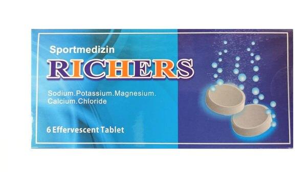 RICHERS 樂解電解質發泡錠 6入(腹瀉、發燒、大量運動者適用) 專品藥局【2003625】