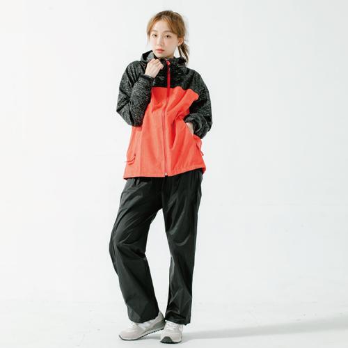 奧德蒙戶外機能特仕Outperform-OH!MY快乾兩件式風雨衣-硃砂紅/黑