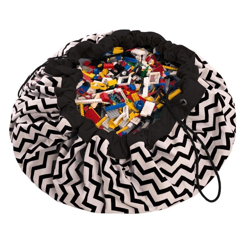 玩具整理袋 - 電波黑