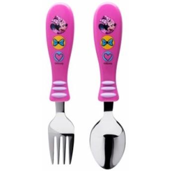子ども用 スプーン フォーク セット ディズニー ミニーマウス キャラクター 子供食器 zak MMCX3180F