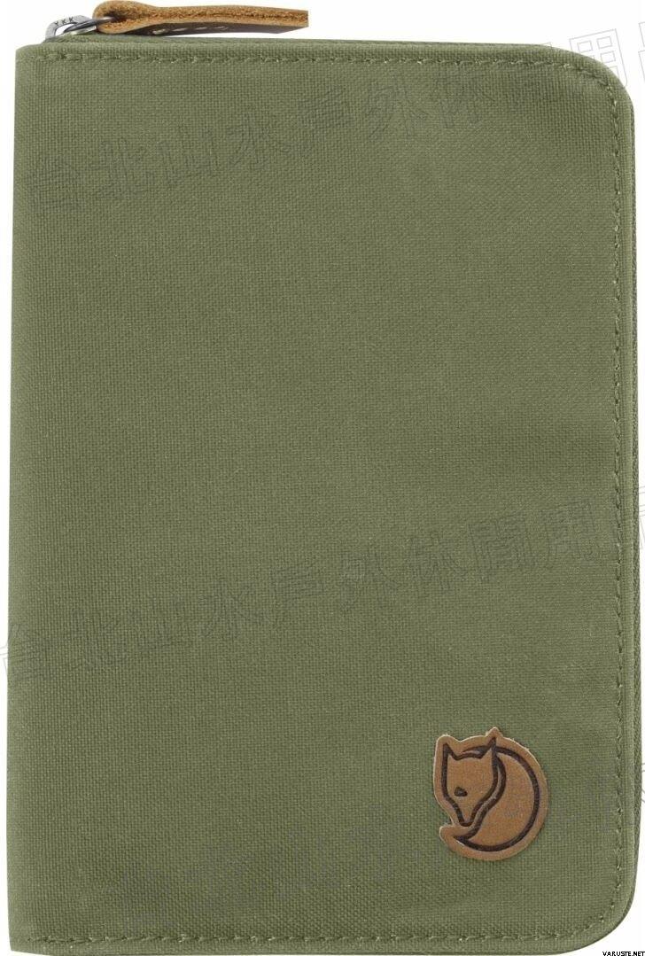 Fjallraven 瑞典北極狐 Passport Wallet 旅遊護照包/復古拉鍊皮夾/錢包 24220 620 綠