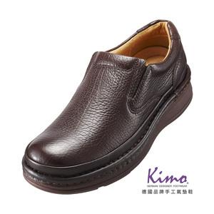 【Kimo 德國品牌健康鞋】型男真皮綁帶休閒舒適彈力氣墊鞋(沉穩咖D5318WM001018)