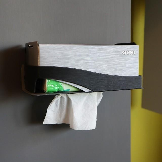 歐士oshibox plus+ 面紙盒架-兩色任選/需自行組裝/下抽式面紙架/衛生紙架/衛生紙盒