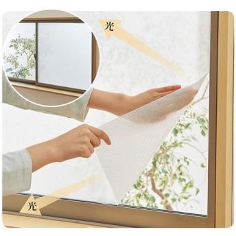 窓に貼る和紙レース - セシール ■カラー:ホワイト ■サイズ:幅90×丈90cm