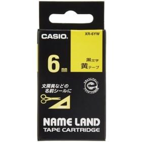【在庫あり】カシオ ネームランドテープ XR-6YW