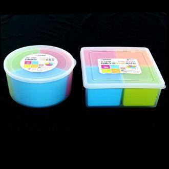 【珍昕】台灣製 KEYWAY 巧麗分格保鮮盒系列~2種尺寸(圓型3分格1000ml.方型4分格1200ml)/保鮮盒