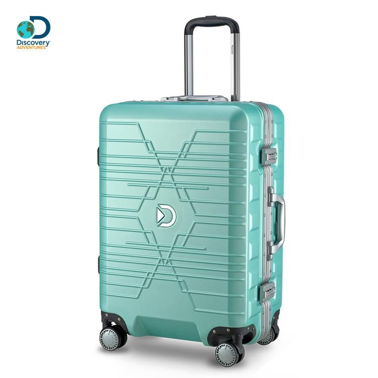 discovery adventures星空大d24吋鋁框行李箱-顆粒綠da-a17013-24