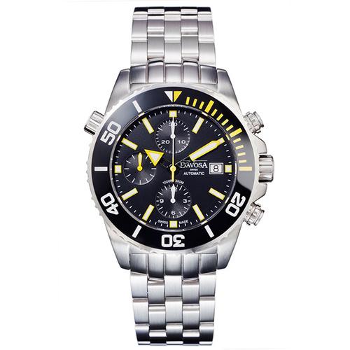 DAVOSA Argonautic 300M潛水陶瓷外圈鋼帶計時腕錶/42mm 161.499.70