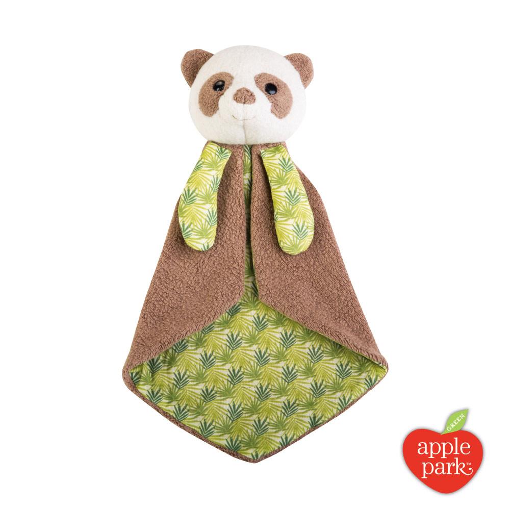 美國 Apple Park 野餐好朋友系列 - 安撫巾禮盒,綠葉貓熊