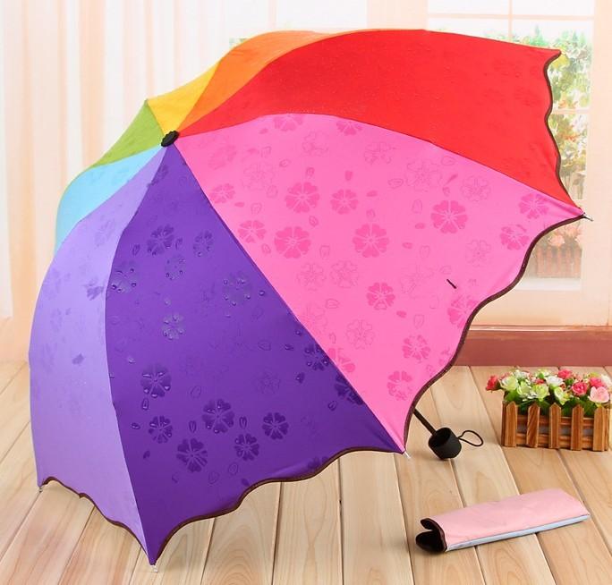 彩虹遇水見花晴雨傘