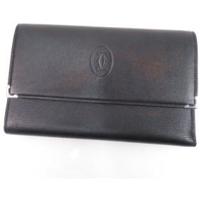 CARTIER【カルティエ】 ロゴ型押し 長財布(小銭入れあり) レザー レディース 【中古】