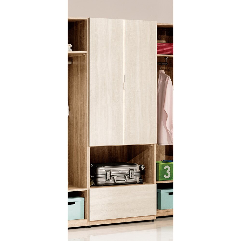 葛瑞絲2.5尺雙門衣櫃/衣櫥/H&D東稻家居-消費滿3千送點數10%