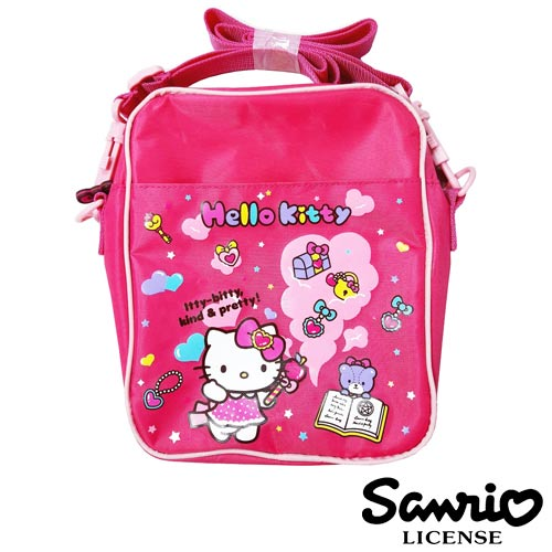 【三麗鷗正版】Hello Kitty 凱蒂貓 魔法學園系列 斜背包 書包 肩背包 三麗鷗 Sanrio - 005268