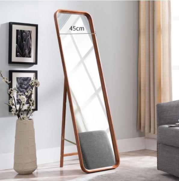 鏡子 立鏡160*55cm全身鏡穿衣鏡試衣鏡北歐實木穿衣鏡全身家用壁掛簡約服裝店試衣鏡臥室大落地鏡子