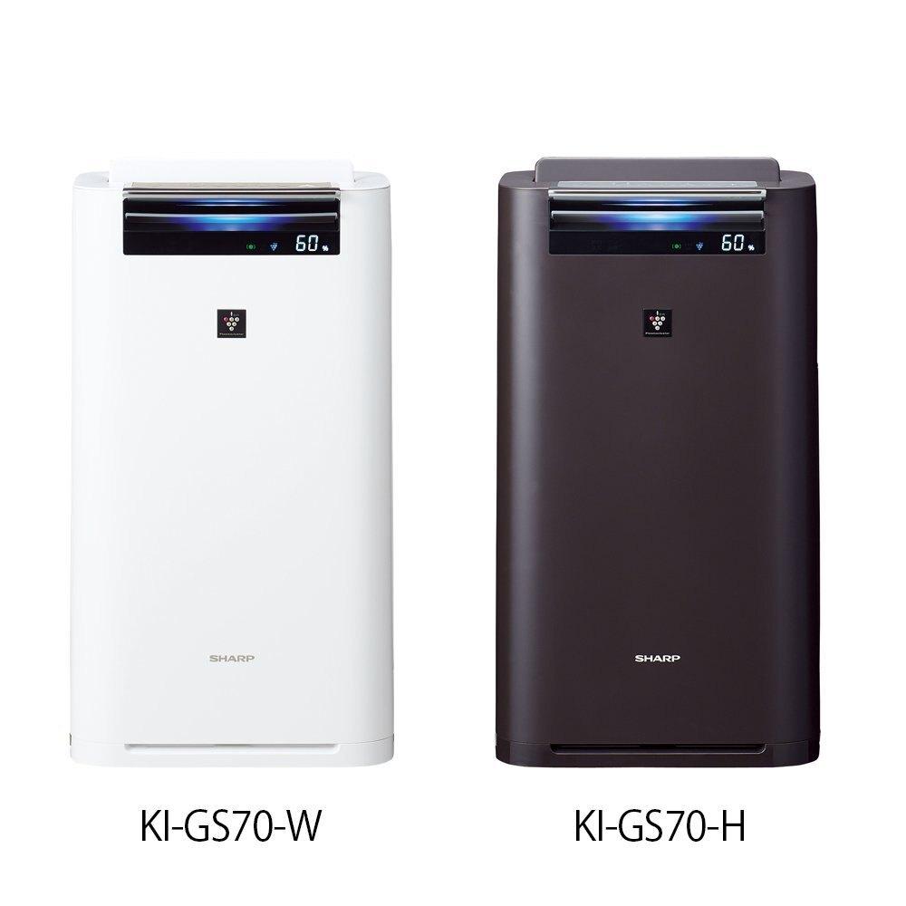 日本公司貨 夏普 SHARP KI-GS70 加濕空氣清淨機 ki gs70 HEPA 31畳 抗菌 過敏 塵螨  兩色