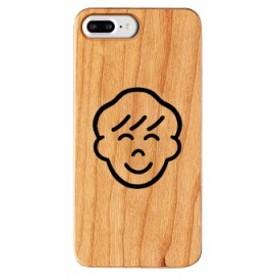 iPhone8Plus ケース iPhone7Plus ケース iPhone6sPlus ケース わかる ウッドケース Gizmobies 男の人 お取り寄せ
