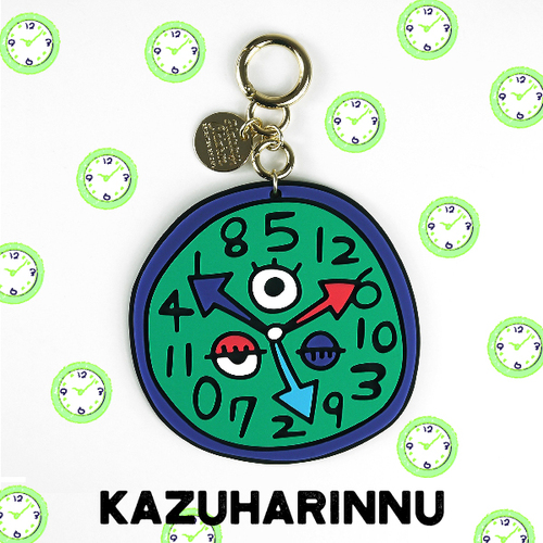 【Candies】Kazuharinnu 插畫家聯名款鑰匙圈(時鐘寶寶)