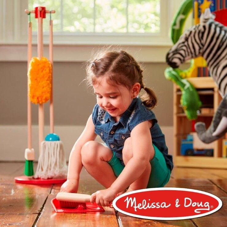 美國瑪莉莎 Melissa & Doug 角色扮演 - 幼兒掃地清潔工具組