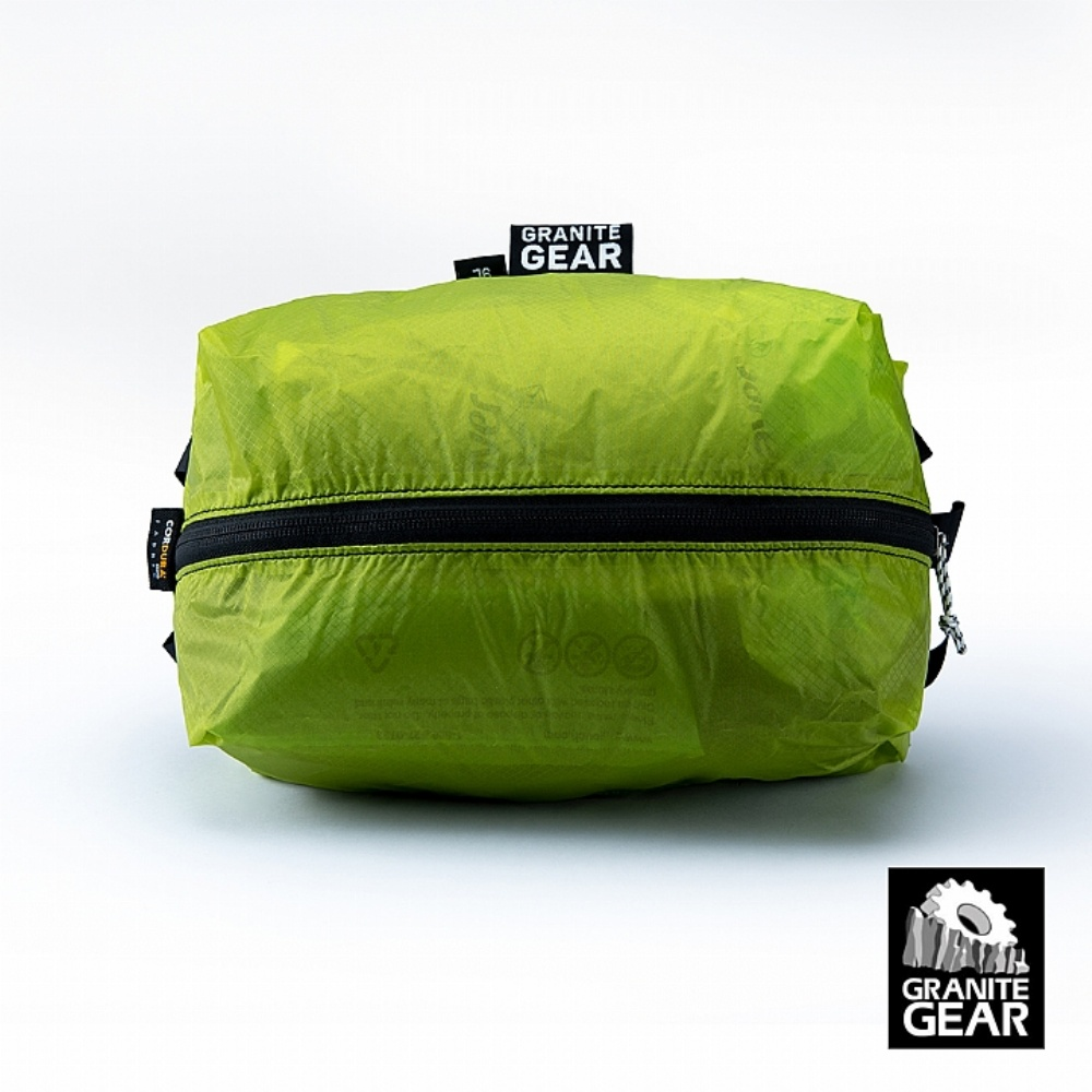 GRANITE GEAR AIR ZIPPSACK 9L抗撥水拉鍊式壓縮袋 (萊姆綠)