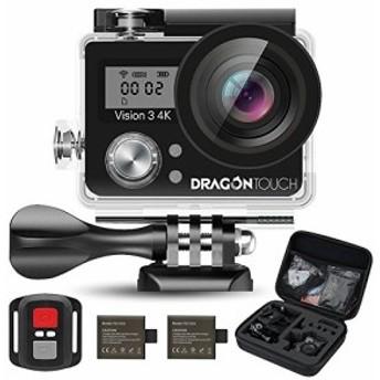 Dragon Touch Vision3 4K アクション カメラ 1600万画素 30メートル 防水カメラ 170度広角 レンズ2インチ 2.4G無線RFリモートコントロー