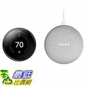 [7美國直購] Nest Thermostat 3rd Generation and Google Mini Bundle A1252324
