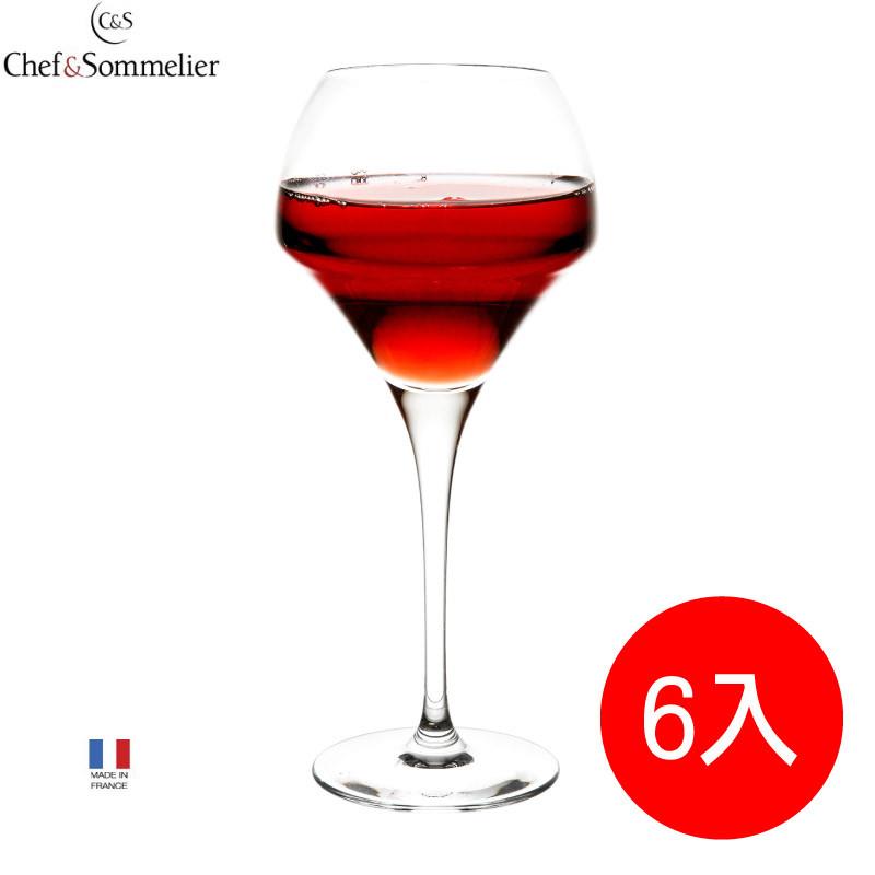 法國c&s紅酒杯葡萄酒杯家用高腳杯高端大氣居家玻璃酒杯(u1010)6入組