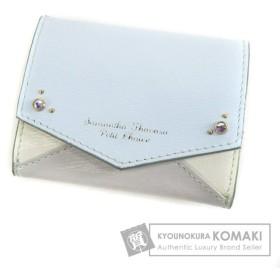 Samantha Thavasa サマンサタバサ ロゴ刻印 二つ折り財布(小銭入れあり) 合成皮革 レディース 中古