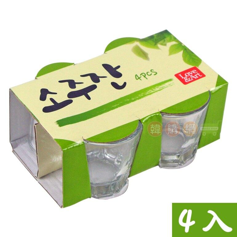 【韓購網】韓國燒酒杯(4入)★容量60ml玻璃製★一口杯真露燒肉小酒杯韓劇迷最愛[DB00001]