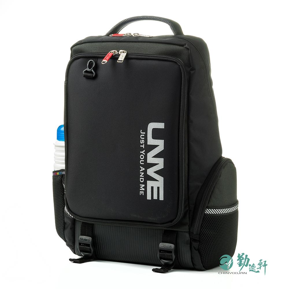 UnMe 韓風雙層人體工學超輕後背書包(黑色)